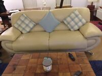 2 x 3 seater sofas, swivel chair and footstool