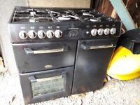Belling Sandringham Range Cooker (90 inches) in Black