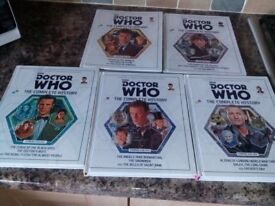 5 editions of Doctor Who - The Complete History hardback books rrp £49.95