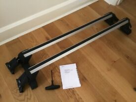Original Audi A4 saloon roof bars and fitting kit