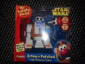Playskool Mr Potato Head Artoo Potatoo R2-D2 Star Wars Boxed Sealed New 2006