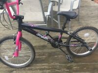 Girls Awesome Black and Pink BMX Excellent Condition