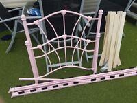 Girls Pink Heart Bed Frame