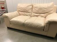 2 seater leather sofa with with FREE DELIVERY