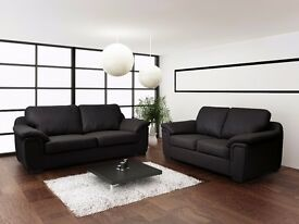 BRAND NEW AMY SOFA COLLECTION***UNIVERSAL CORNERS***3+2 SEAT SETS***LEATHER & FABRIC