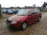 SKODA FABIA 1.2 5 DOOR ESTATE, 2006, BUGUNDY, MOT, HISTORY, IMMACULATE, £1695 PX POSS