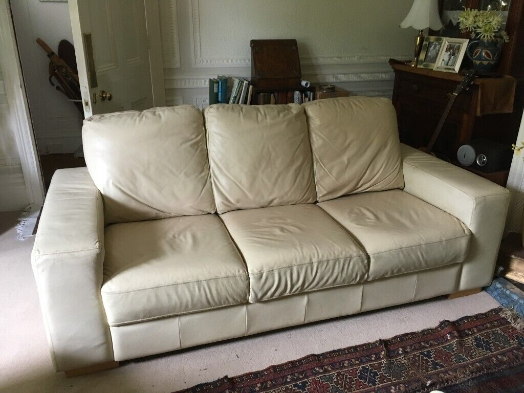 Sensational Large White Leather Sofa In Norwich Norfolk Gumtree Pdpeps Interior Chair Design Pdpepsorg