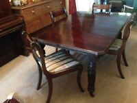 Dining table - victorian mahogany extending table vgc