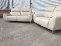 Leather sofas contemporary style modern quality set CAN DELIVER LOCAL