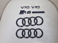 Audi R8 V10 Genuine Carbon badge complete set (USED)