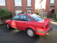 1994 Red Audi 80 2.0E Saloon, owned by present owner for 21 years no rust.