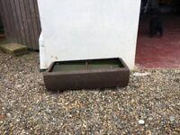 Cast iron pig trough