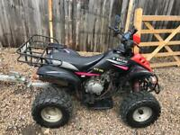 Road legal quad with 12 months mot n trailer