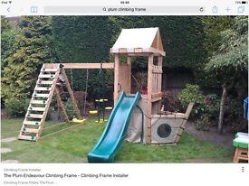 Plum climbing frame
