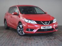 NISSAN PULSAR 1.2 DIG-T N-TEC 5DR XTRONIC Auto (red) 2015