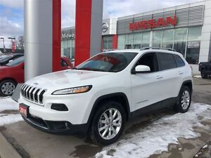 2016 Jeep Cherokee Limited 4X4, LEATHER, NAVIGATION
