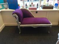 Kids shabby chic chaise longue
