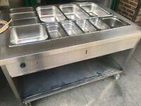 CATERING COMMERCIAL WET BAIN MARIE FOOD WARMER TAKE AWAY CUISINE CAFE TAKE AWAY COMMERCIAL KITCHEN