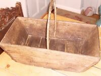 Lovely old French wooden Trug