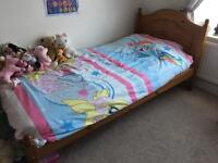 Antique Pine Single Bed Excellent Condition- Price reduced!