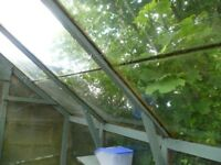 24 panes of greenhouse glass - used