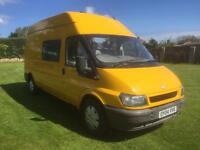 Ford transit crew cab day van /camperconversion