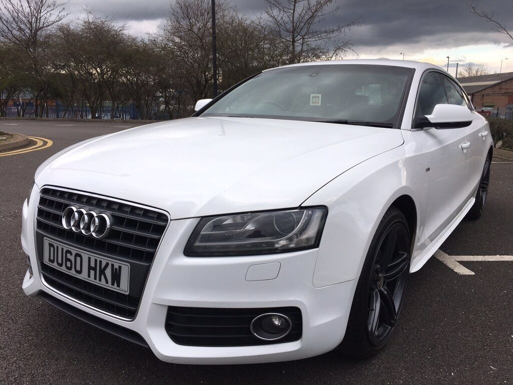 audi a5 2 0 tfsi s line sportback 5dr white 2010 in walsall west midlands gumtree. Black Bedroom Furniture Sets. Home Design Ideas