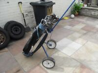 Dunlop golf clubs and trolley