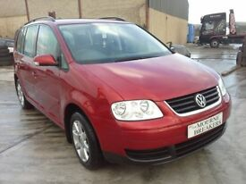 **For breaking** 2007 Vw Volkswagen Touran 1.9 diesel (6 speed).