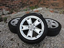 GENUINE AUDI A3 S LINE ALLOY WHEELS WITH TYRES