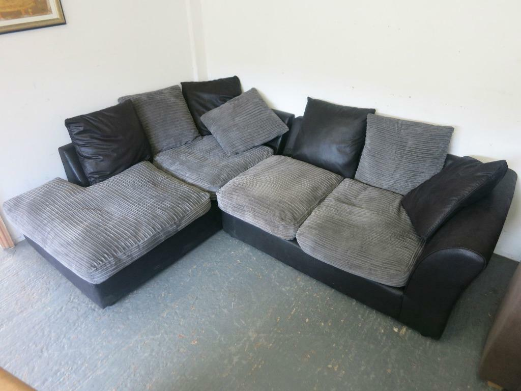 leather and fabric corner sofa united kingdom gumtree