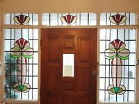 original lead stain glass windows