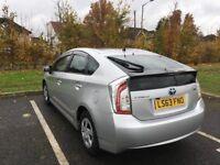 63 Plate Toyota Prius MOT 2018 SAT NAV Bluetooth Aux Usb 27K Milg Key less Entry P/X Welcome