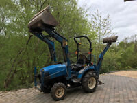 2001 New Holland TC21D Compact Tractor complete with Lewis Backhoe