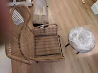 Rattan Garden Arm Chair and coffee table