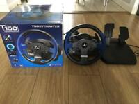 New Thurstmaster T150 Steering Wheel & Pedal Set PS4 Playstation PC