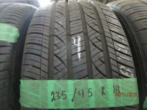 235/45R18 SINGLE ONLY USED NEXEN A/S TIRE LIKE NEW