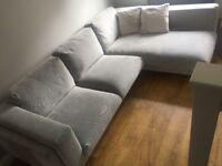 Ikea Nockerby Corner Sofa with Chaise