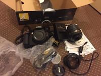 Nikon D3200 DSLR with 18-55mm kit lens