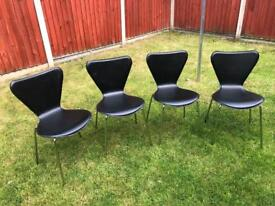 4 x Arne Jacobson style chairs