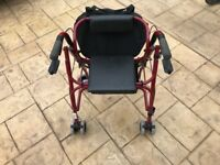 Mobility Walker with built-in stool and bag
