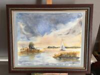 original framed watercolour painting