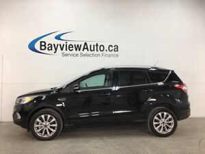 2018 Ford Escape Titanium - 4WD! HEATED LEATHER! PANOROOF! NA...