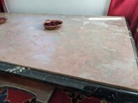 Art Deco solid marble table