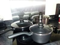 3 ccoking pans