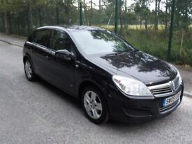 2009 VAUXHALL ASTRA, BLACK, 1.4 PETROL, SERVICE HISTORY, WARRANTED MILEAGE, LONG MOT NO ADVISORIES