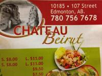 LF waitor or waitress for Chateau Beirut
