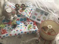 Baby nursery bundle animals circus bedding etc