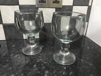 Heavy glass cocktail goblets