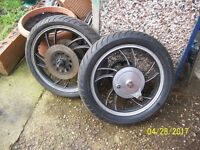 YAMAHA XJ550 SPARES WHEELS TANK FORKS SEAT ETC ALL USED GOOD FOR SPARES
